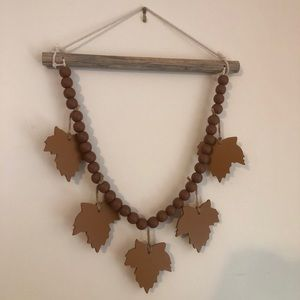 Wooden leaf fall hanging
